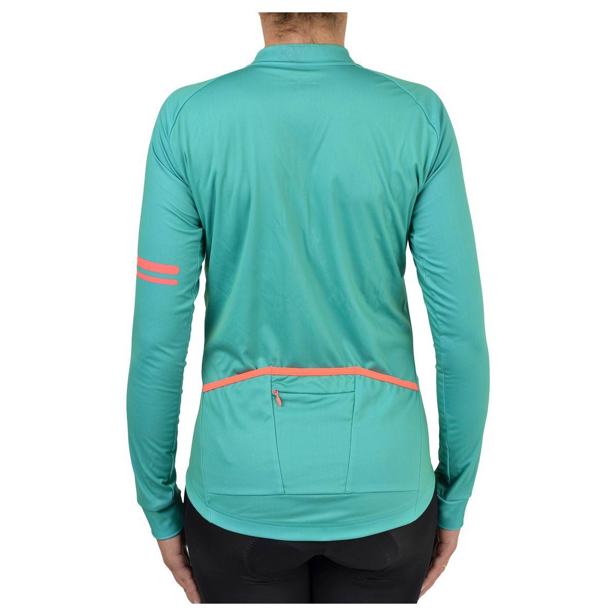 Solid Fietsshirt Lange Mouwen Trend Dames fit example