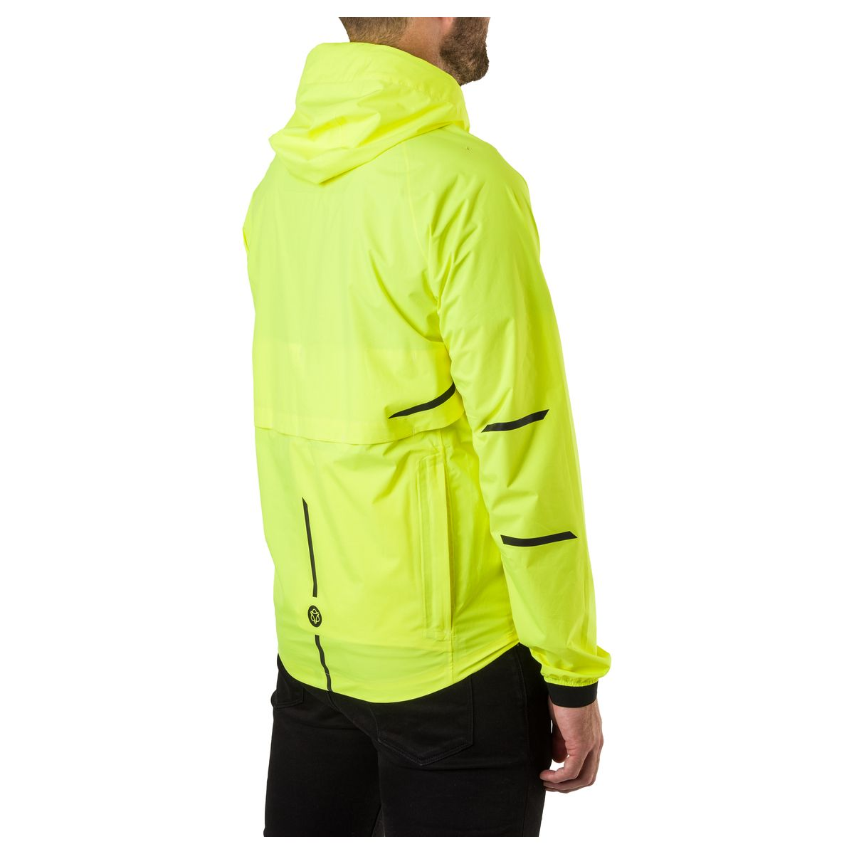 Compact Regenjas Commuter Heren Hivis fit example