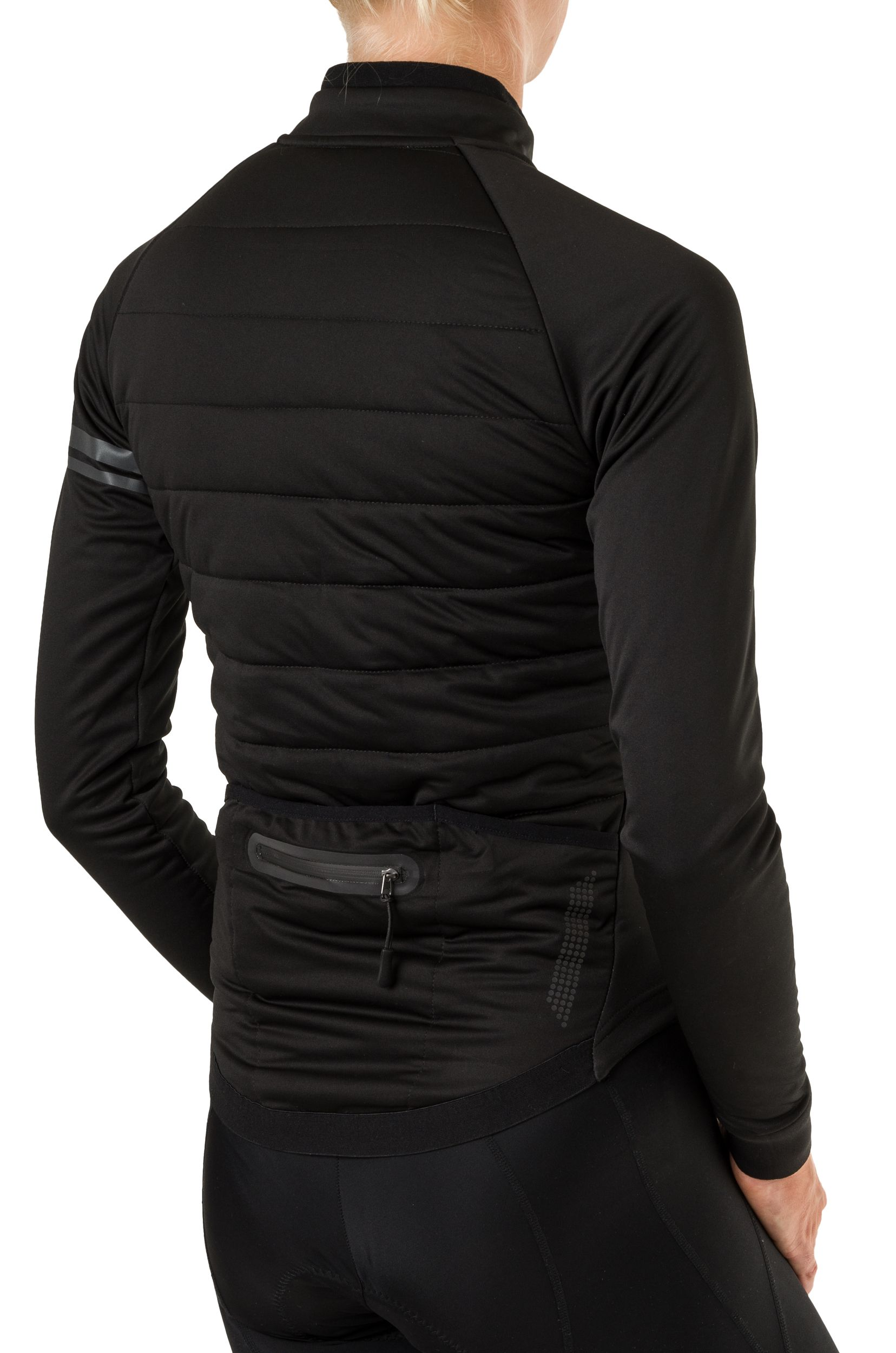 Deep Winter Thermojack Essential Dames Heated fit example