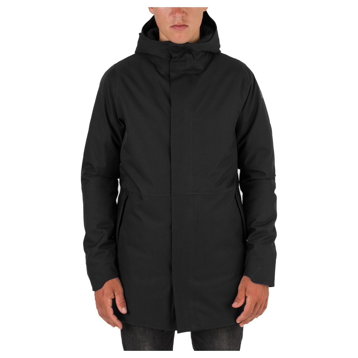 Clean Winter Rain Jacket Urban Outdoor Men fit example