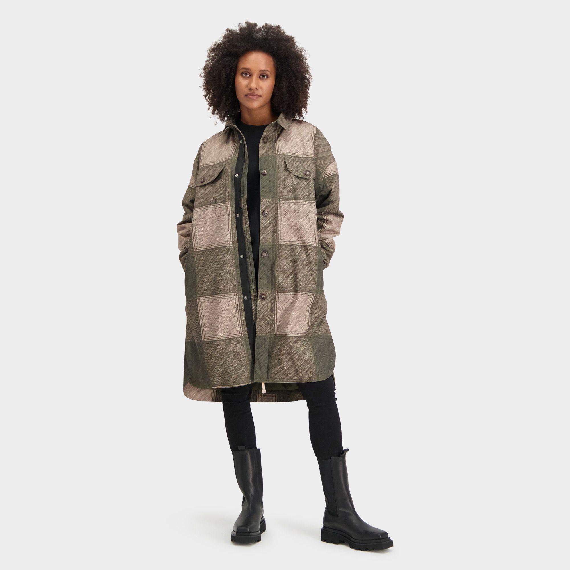 Winter Oversized Rain Shirt Urban Outdoor Dames fit example