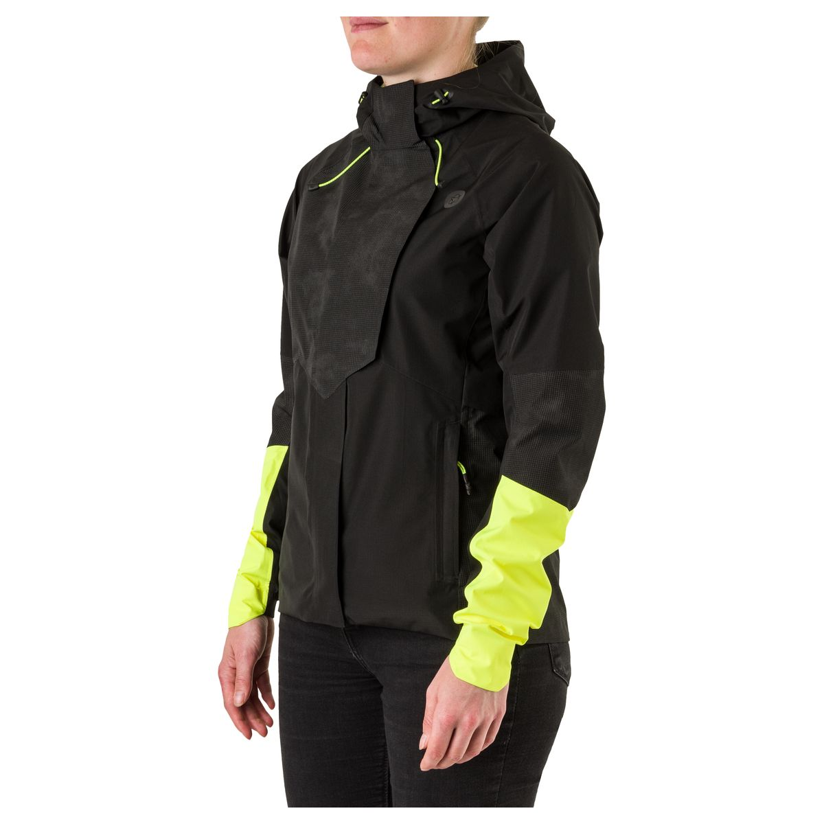 Tech Regenjas Commuter Dames Hi-vis & Reflection fit example