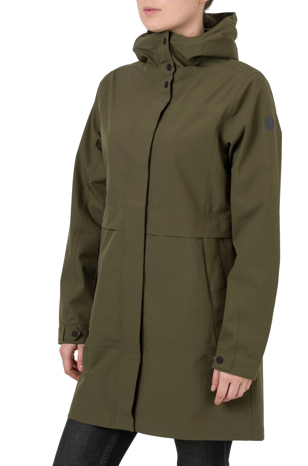 Parka Regenjas Urban Outdoor Dames fit example