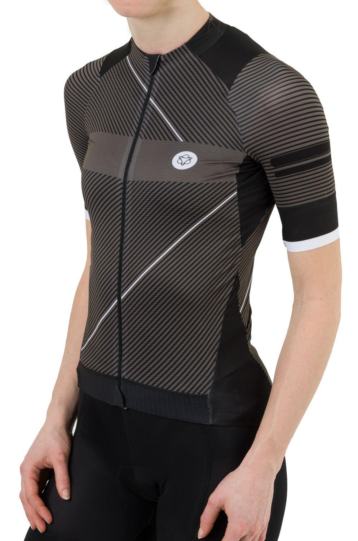 Stripe Fietsshirt Premium Dames fit example