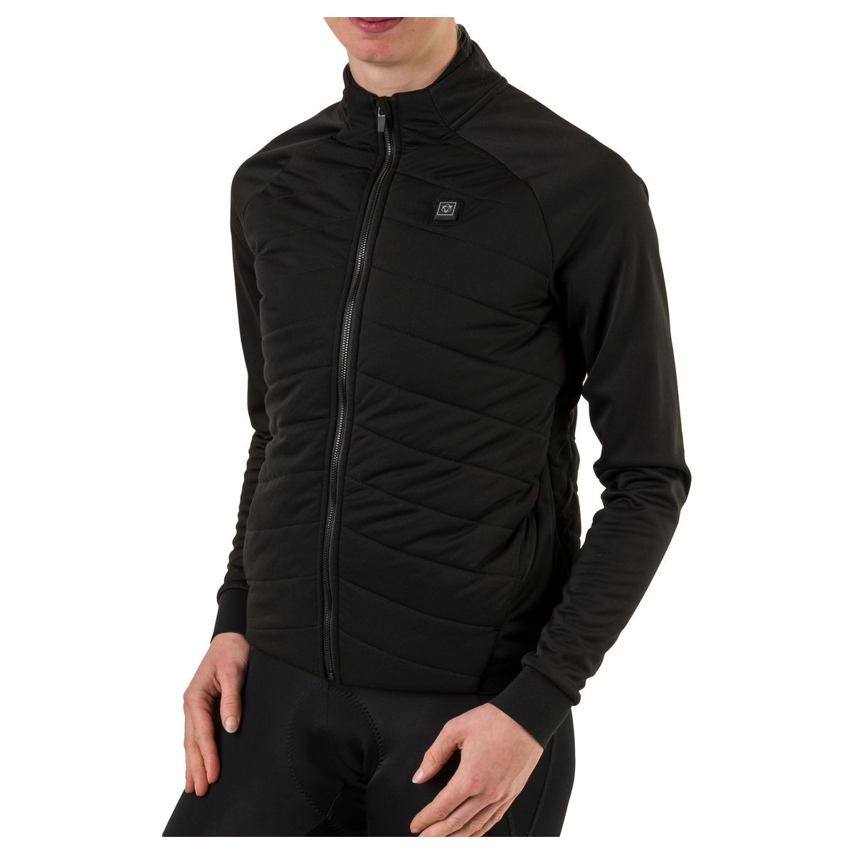 Heated LED Thermojacke Essential Damen LED fit example