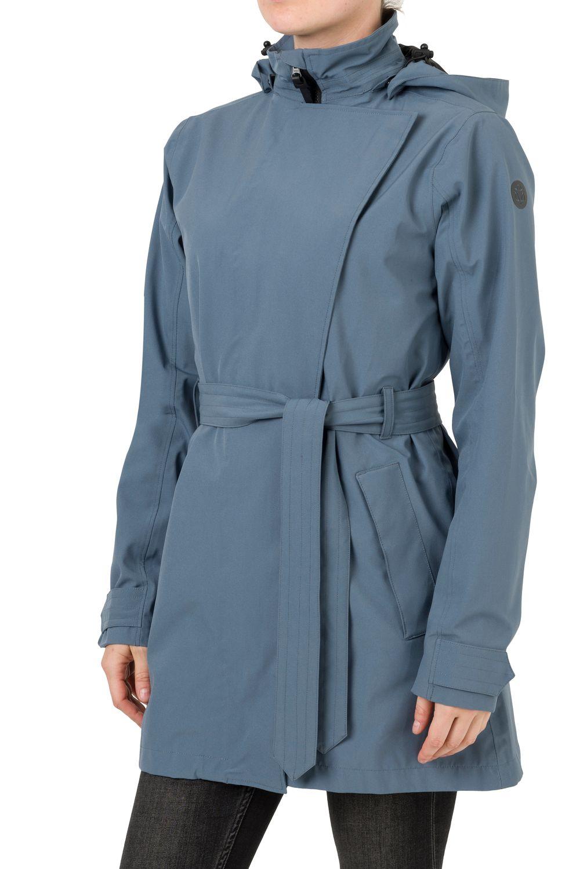 Trench Coat Regenjas Urban Outdoor Dames fit example