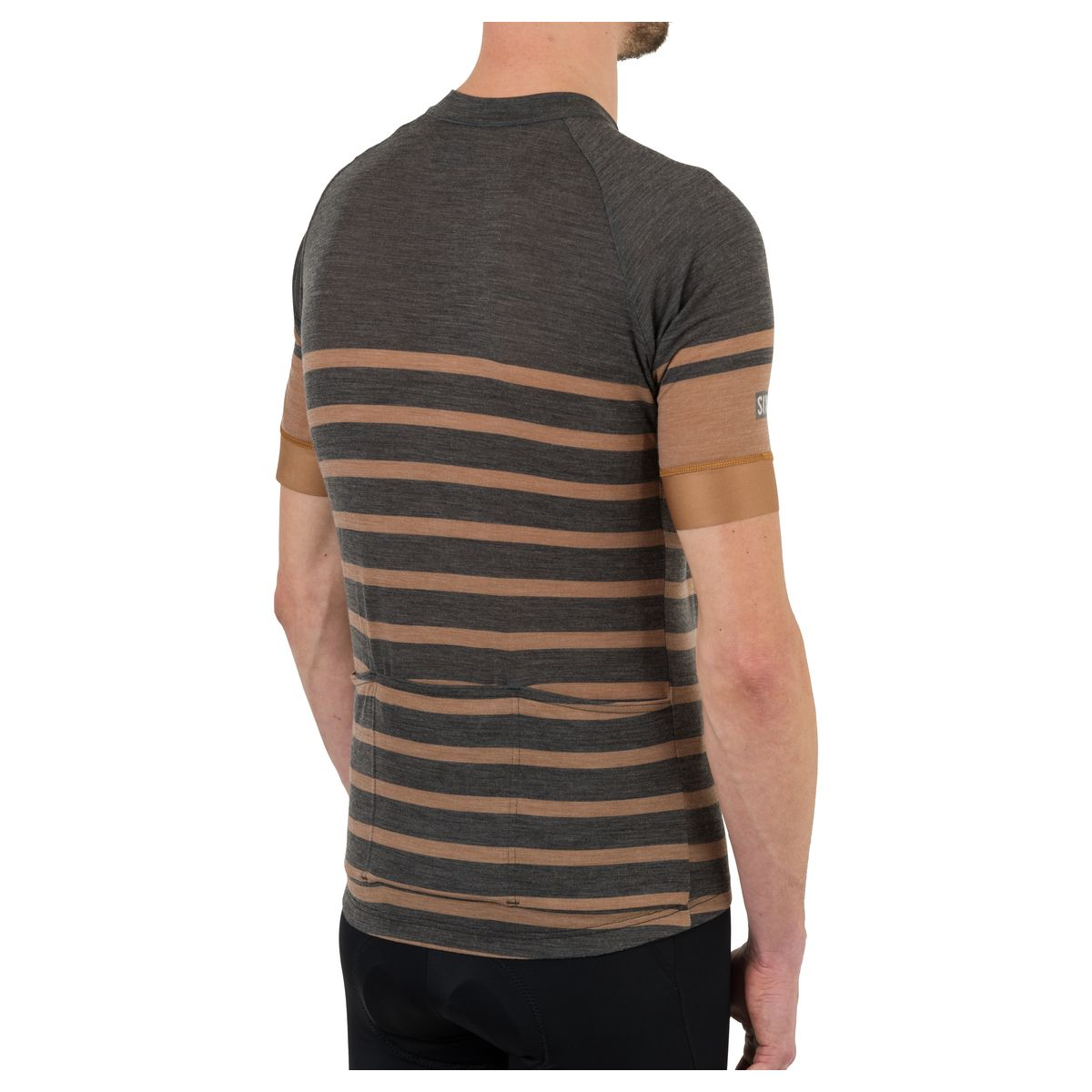 Merino Stripe Fietsshirt Six6 Heren fit example