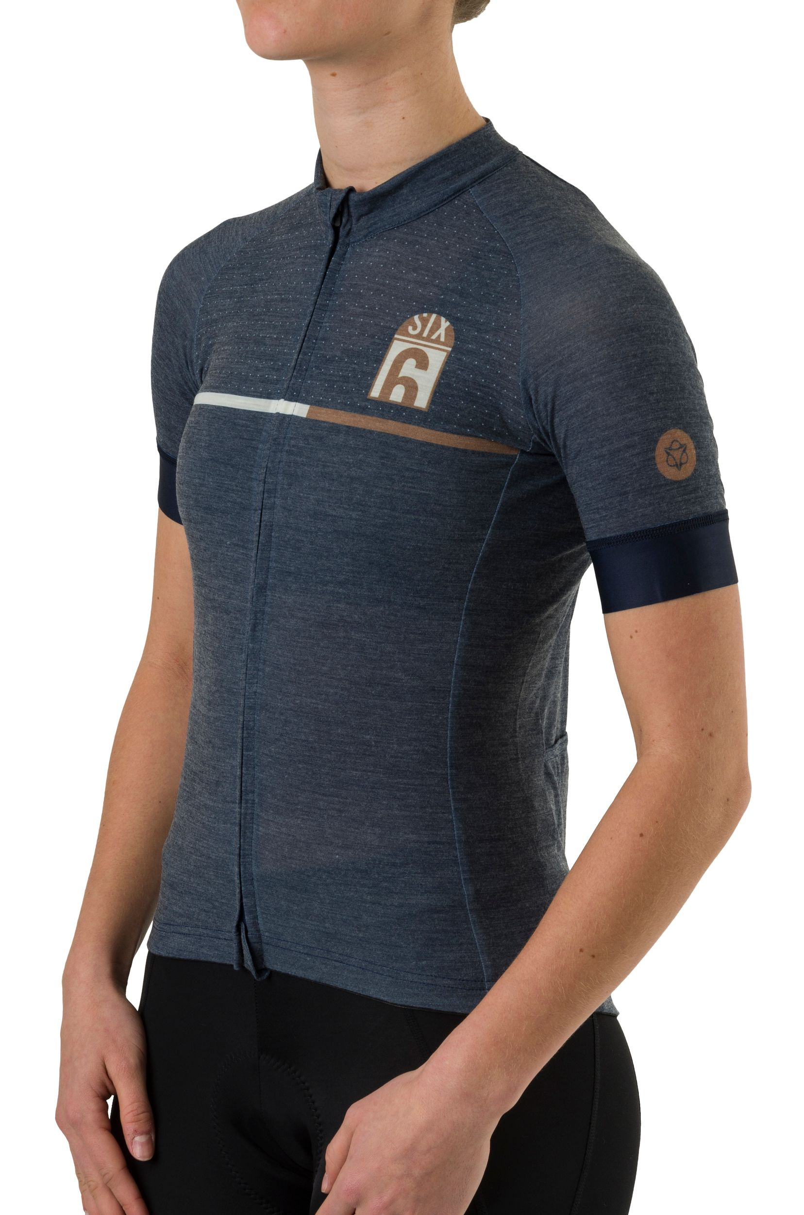 Merino Fietsshirt Six6 Dames fit example